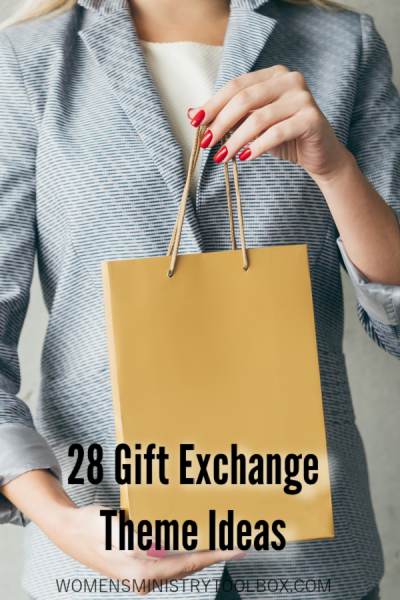 Are you planning a gift exchange? Check out the 28 creative ideas for a gift exchange theme. Includes 14 Christian themes and 14 general themes.