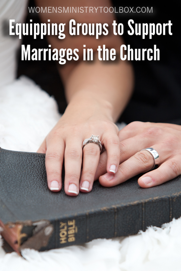 Marriages in our church are in crisis. Discover how we can we equip groups to support marriages in the church.