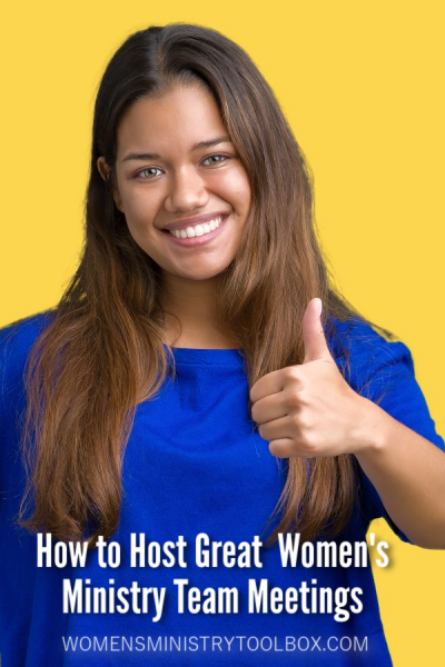 Do you want to have great women's ministry team meetings? You'll find my best tips and advice in this post including how often you should meet, what you should discuss, and how long your meetings should last.