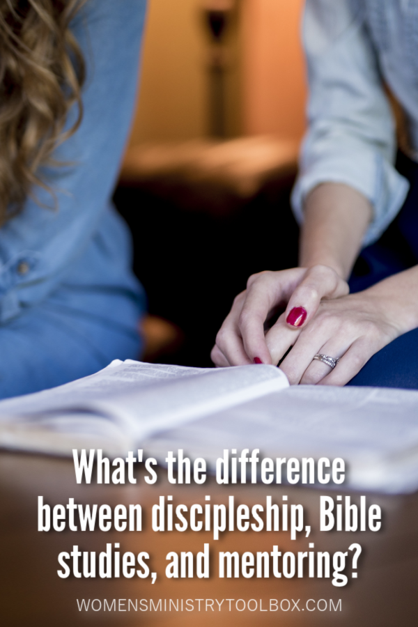 What's the difference between discipleship, Bible studies, and mentoring? How are they the same, and how are they different?