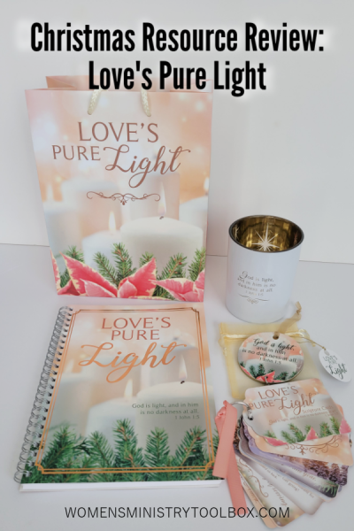 The Love's Pure Light Collection includes everything you need to host an event that will impact your women with the love of Christ. Invite your women to block out the Christmas chaos to focus on the Light of Jesus and our calling to be light in the world.