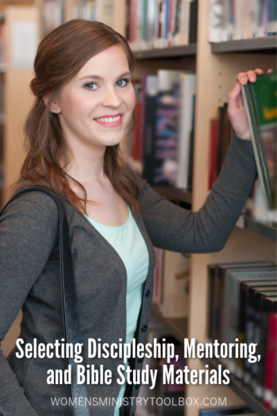 Need help selecting discipleship, mentoring, or Bible study materials? Check out these tips!